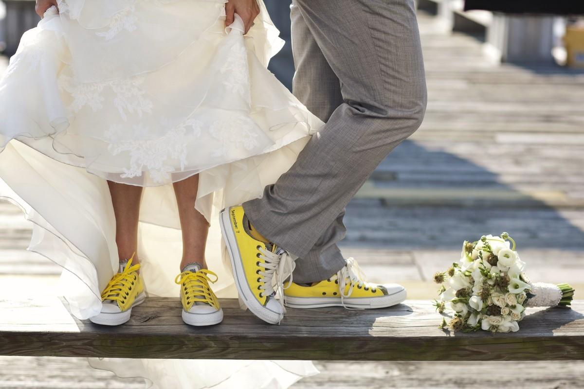 Свадьба в платье и кедах