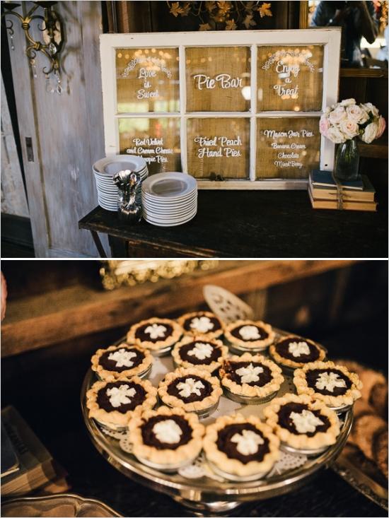 pie-bar-dlya-svadby Десертный стол из пышной выпечки для свадебного торжества