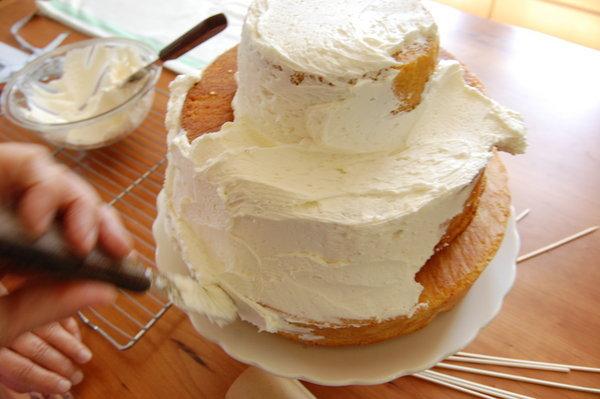бюджетный свадебный торт 6