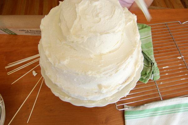 бюджетный свадебный торт 7