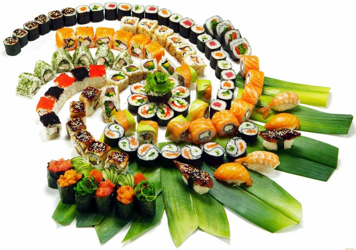 rolly-na-svadbe Суши на свадебном столе и в меню.