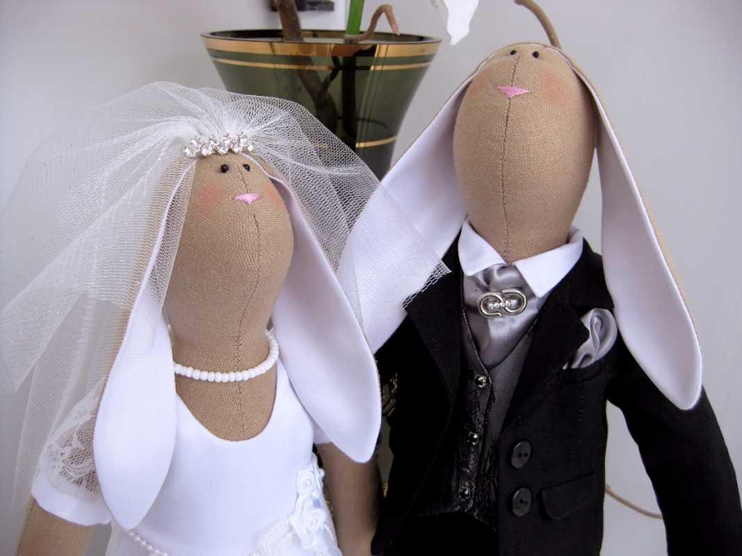 Свадебные зайчики своими руками сшить 75