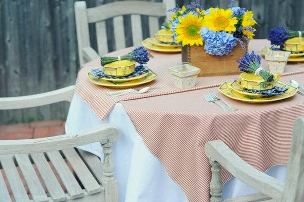 svadebnyj-stol-v-stile-kantri-7 Сервируем свадебный стол в стиле кантри