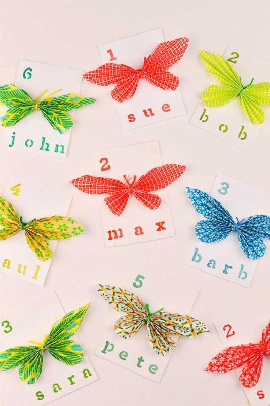 1-Delaem-kartochki-dlya-rassadki-gostej-s-babochkami Делаем карточки для рассадки гостей с бабочками