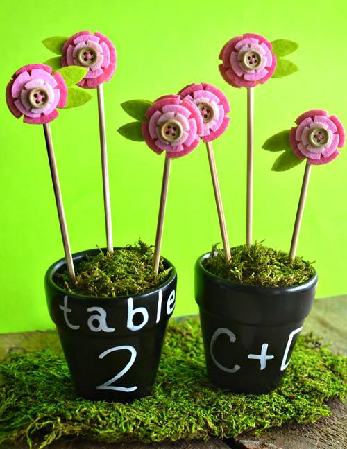 Номера столов в виде цветов на свадьбу