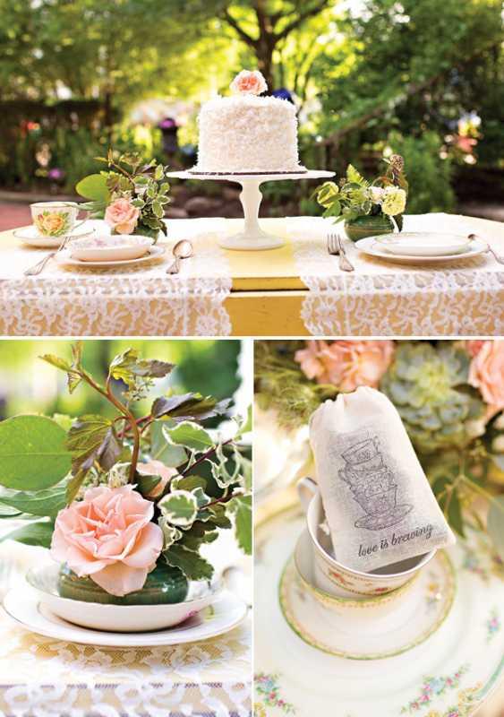 Восхитительная винтажная свадьба в стиле зеленого чая, с нотками романтики и нежности