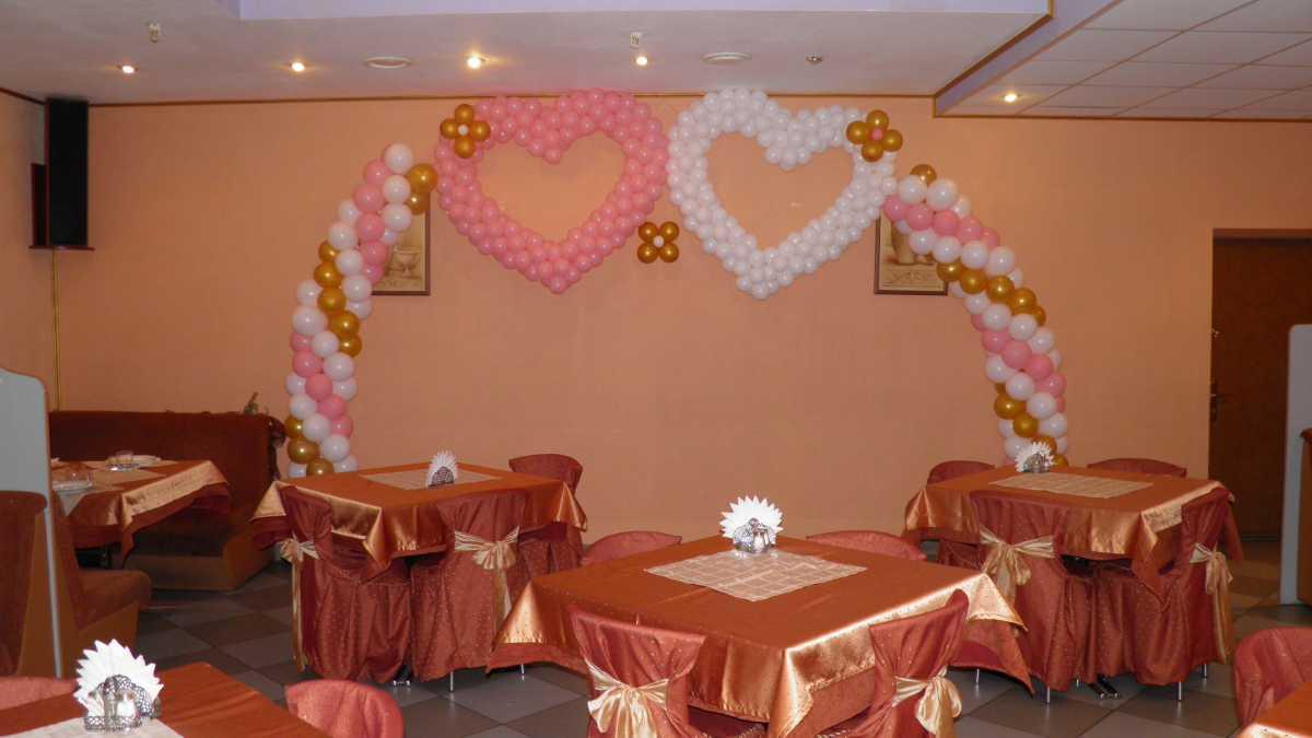 Arka-iz-sharov-na-svadbu-6 Арка из шаров на свадьбу бюджетный и довольно оригинальный вариант оформления торжества