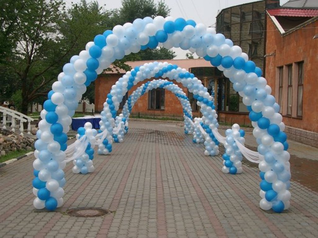 Arka-iz-sharov-na-svadbu-7 Арка из шаров на свадьбу бюджетный и довольно оригинальный вариант оформления торжества