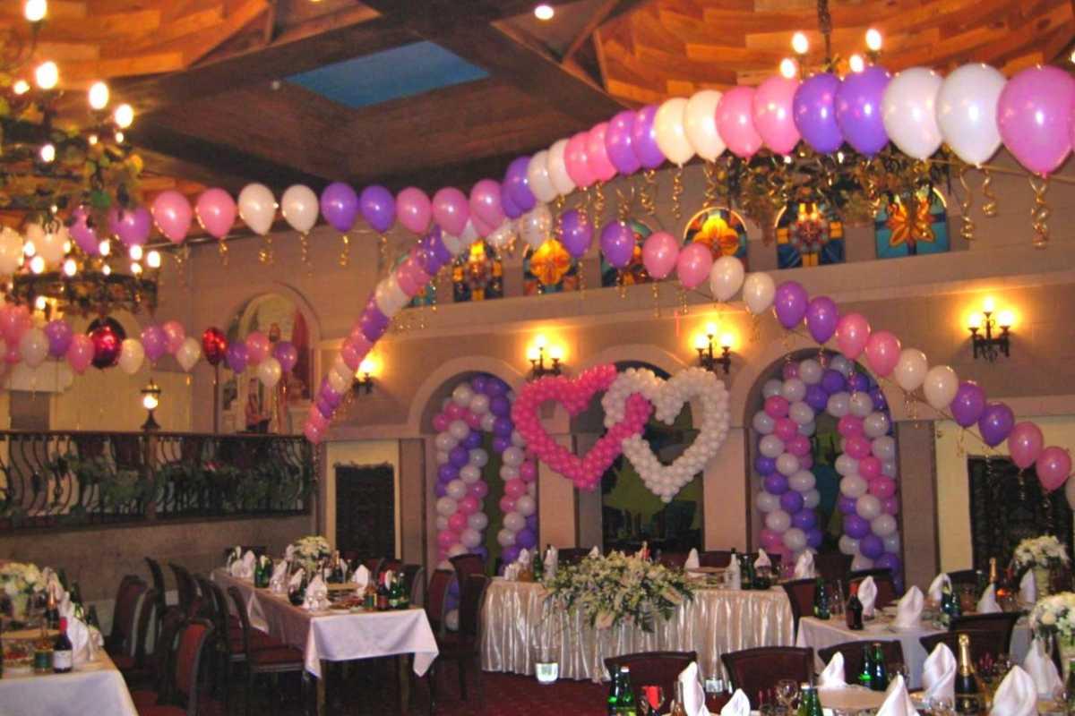 Arka-iz-sharov-na-svadbu-8 Арка из шаров на свадьбу бюджетный и довольно оригинальный вариант оформления торжества