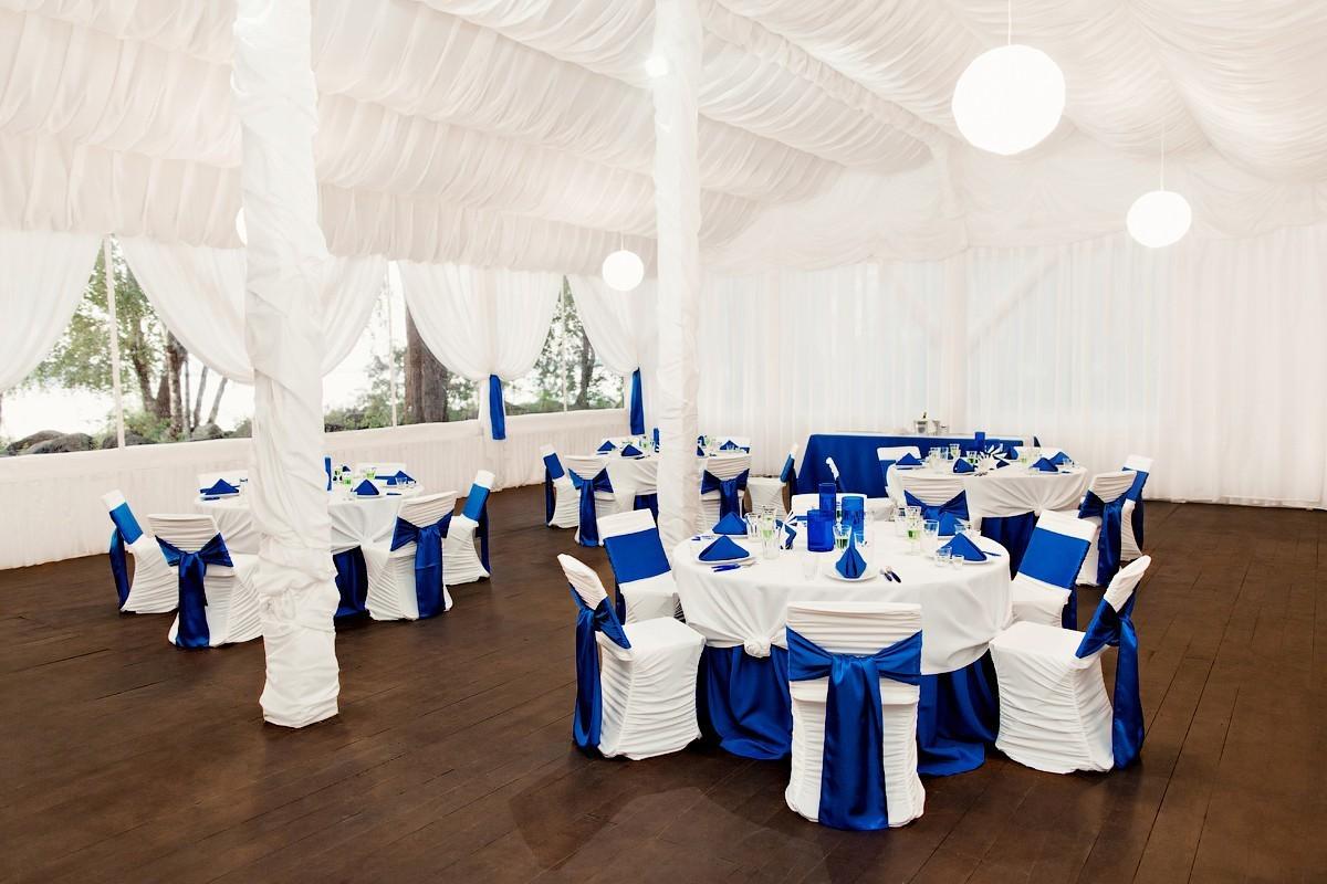 Оформление свадьбы в синем цвете цветами