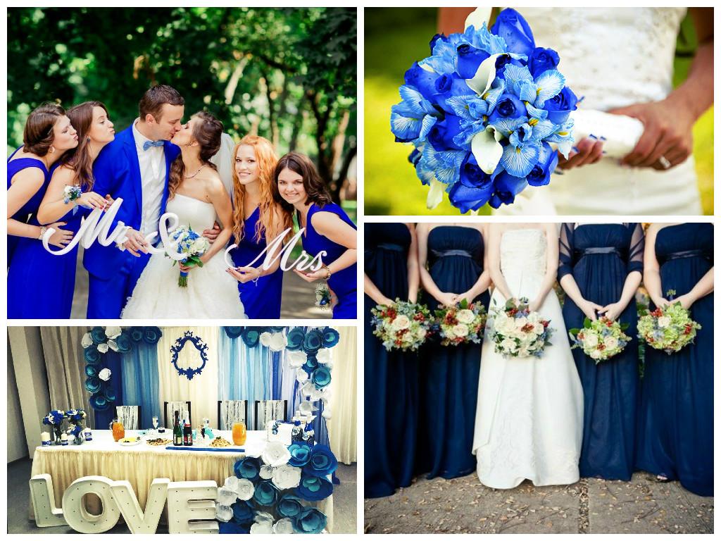 Синие свадебные платья фото невест в нарядах бело-синего 38