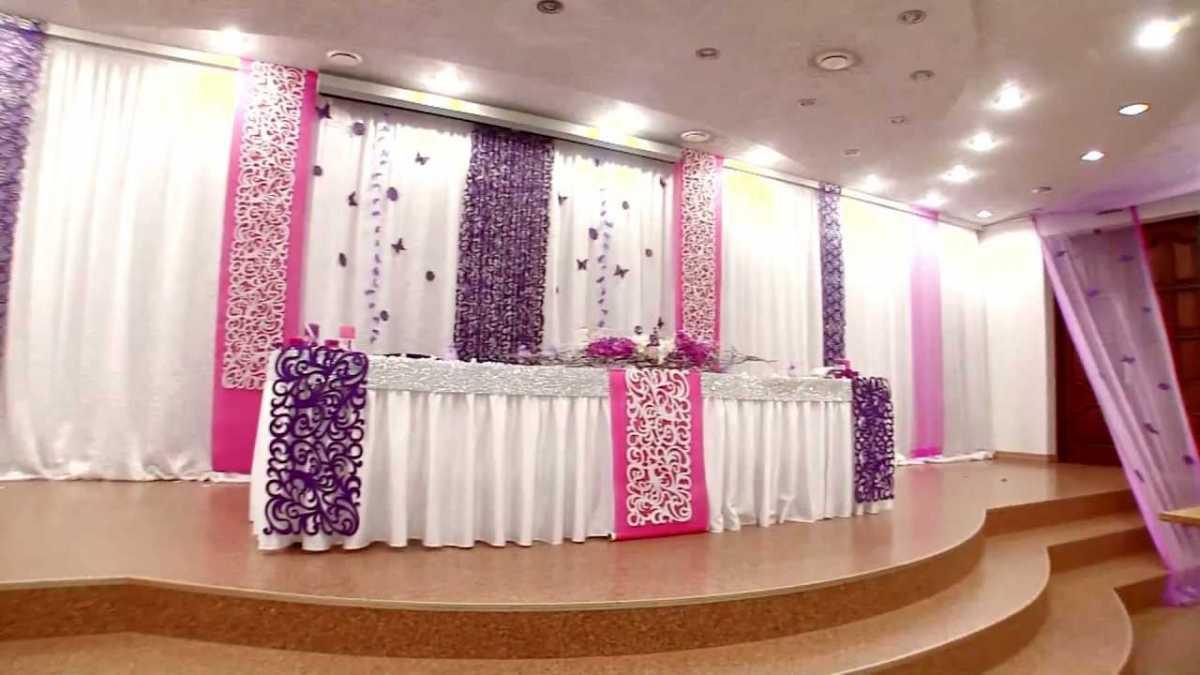 Svadebnoe-oformlenie-zala-tkanyu-foto-sovety5 Свадебное оформление зала тканью фото советы