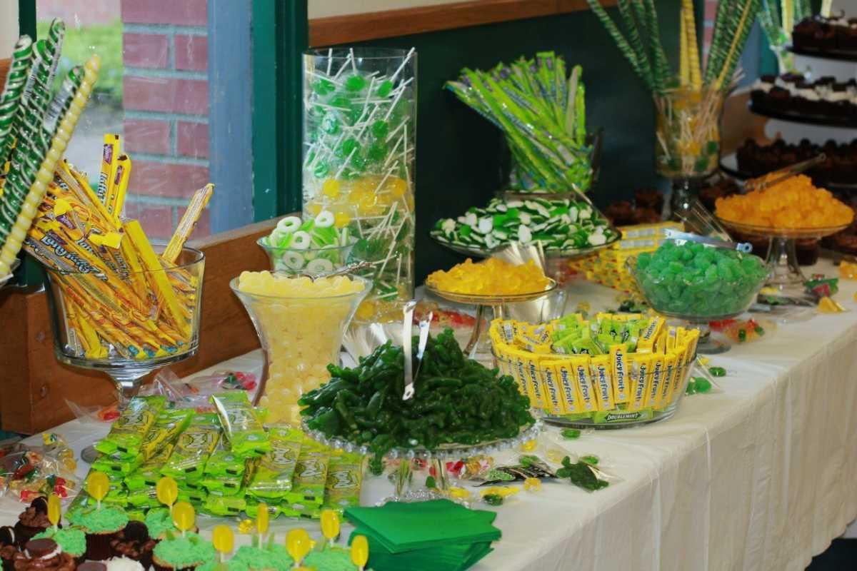 Zelenoe-svadebnoe-oformlenie-Kendi-Bara-2 Свадьба в зеленом и зеленое свадебное оформление Кэнди Бара