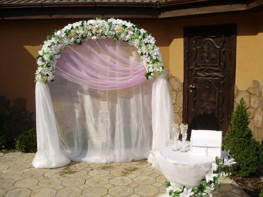 Украшение своими руками для свадьбы арка 519