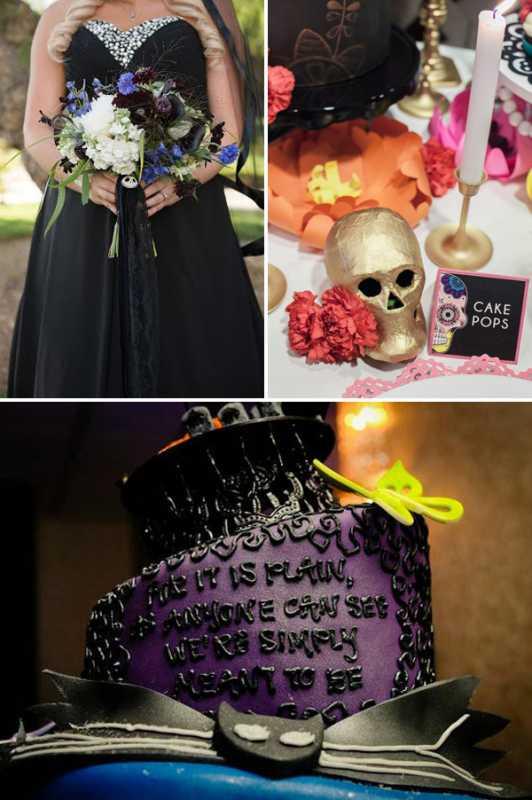 svadba-v-stile-Dnya-Mertvyh-5 Свадьба в стиле Дня Мертвых - удивительный вариант проведения торжества для смелых влюбленных