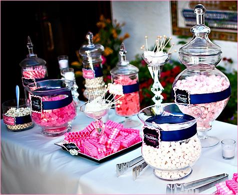 1-konfetnyj-stol-na-svadbe Кэнди Бар наполненный одними конфетами, стандартный вариант десертного стола