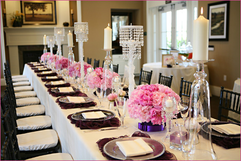 1-servirovka-stola-v-stile-shanel Сервировка свадебного стола в стиле Шанель - простой способ сделать торжество изысканным и стильным
