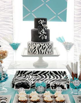 1-svadebnyj-Kendi-Bar-zebra1 Кэнди бар на свадьбу- более 100 идей и решений