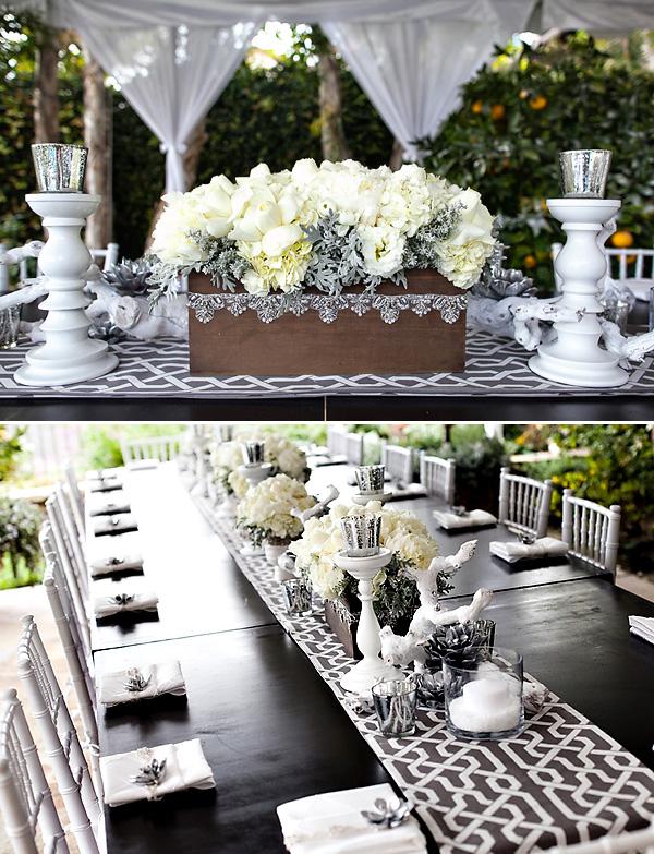 1-svadebnyj-stol-v-belom-tsvete Сервировка свадебного стола в бело-серебряном цвете: сочетание изысканности и романтики