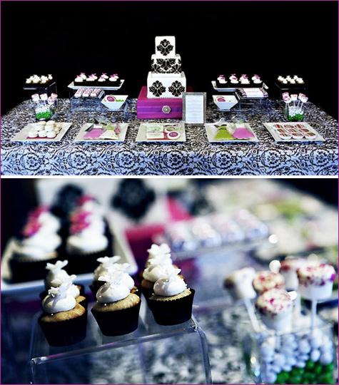 1-yarkij-Kendi-bar-na-svadbu Яркий свадебных Кэнди бар в необычном сочетании фиолетового, розового и зеленого цвета