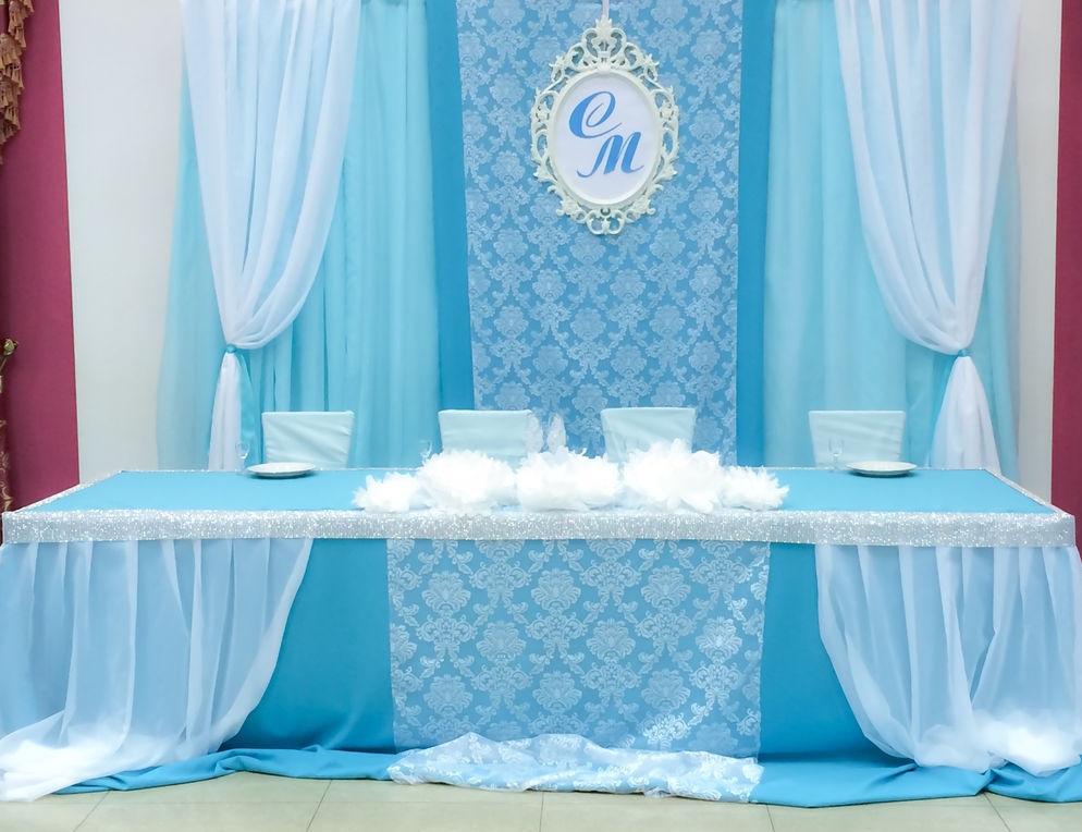 Оформление свадебного стола для молодоженов своими руками фото 600