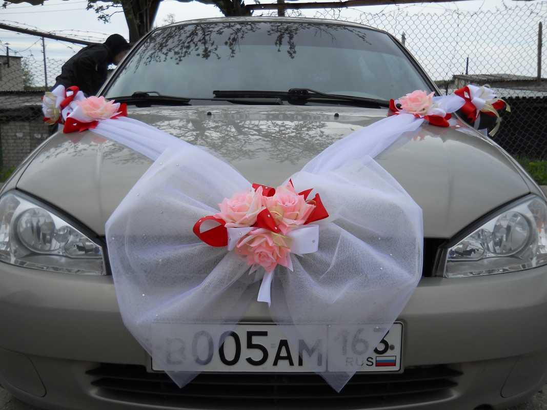 Украшение цветы свадебные для машины своими руками