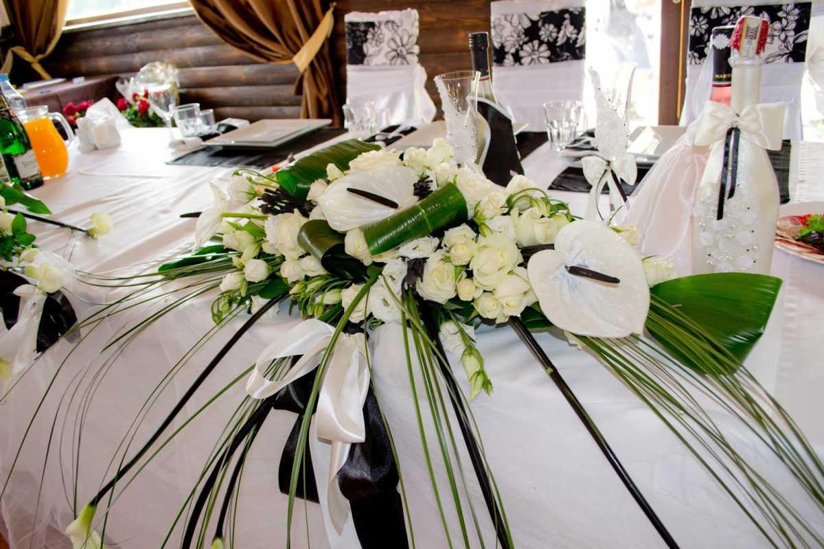 dekor-svadby-v-cherno-belom-tsvete-7 Свадьба в черно-белом цвете сочетание стиля и элегантности в торжестве
