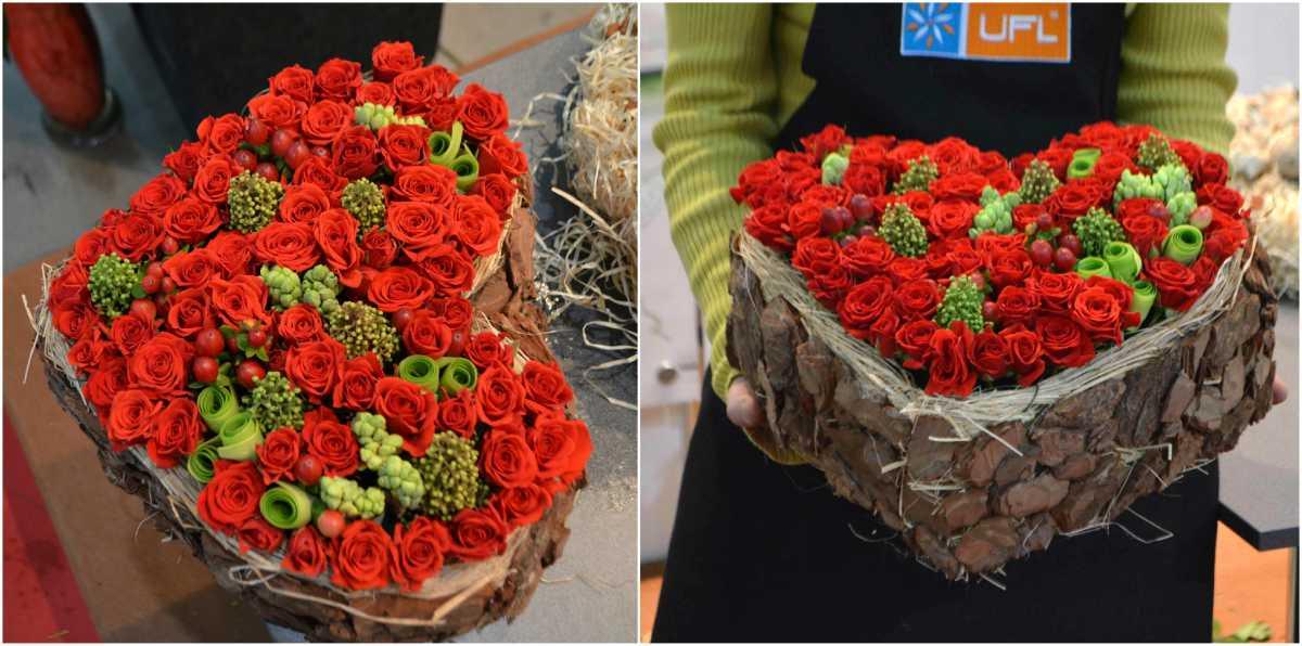 dekorativnoe-tsvetochnoe-serdtse-7 Сердце из цветов на свадьбу, как использовать такой необычный декор на своем торжестве?