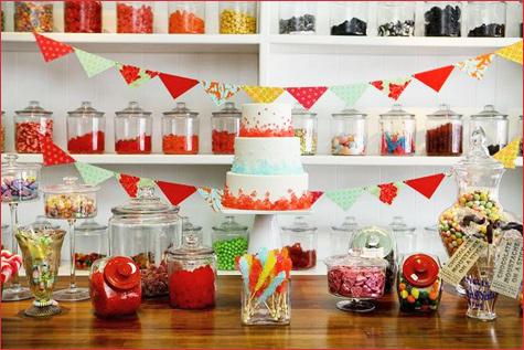 konfetnyj-yarkij-Kendi-Bar-3 Потрясающий конфетный Кэнди Бар на свадьбе, расскрываем секреты его яркого оформления