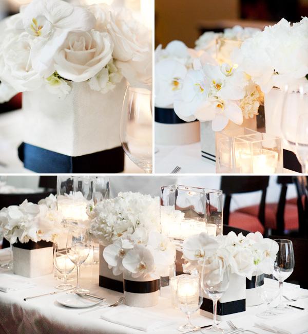 ofitsialnaya-svadba-v-stile-belo-chernyj-3 Официально и довольно строгое оформление свадьбы в белом цвете с использованием черного декора