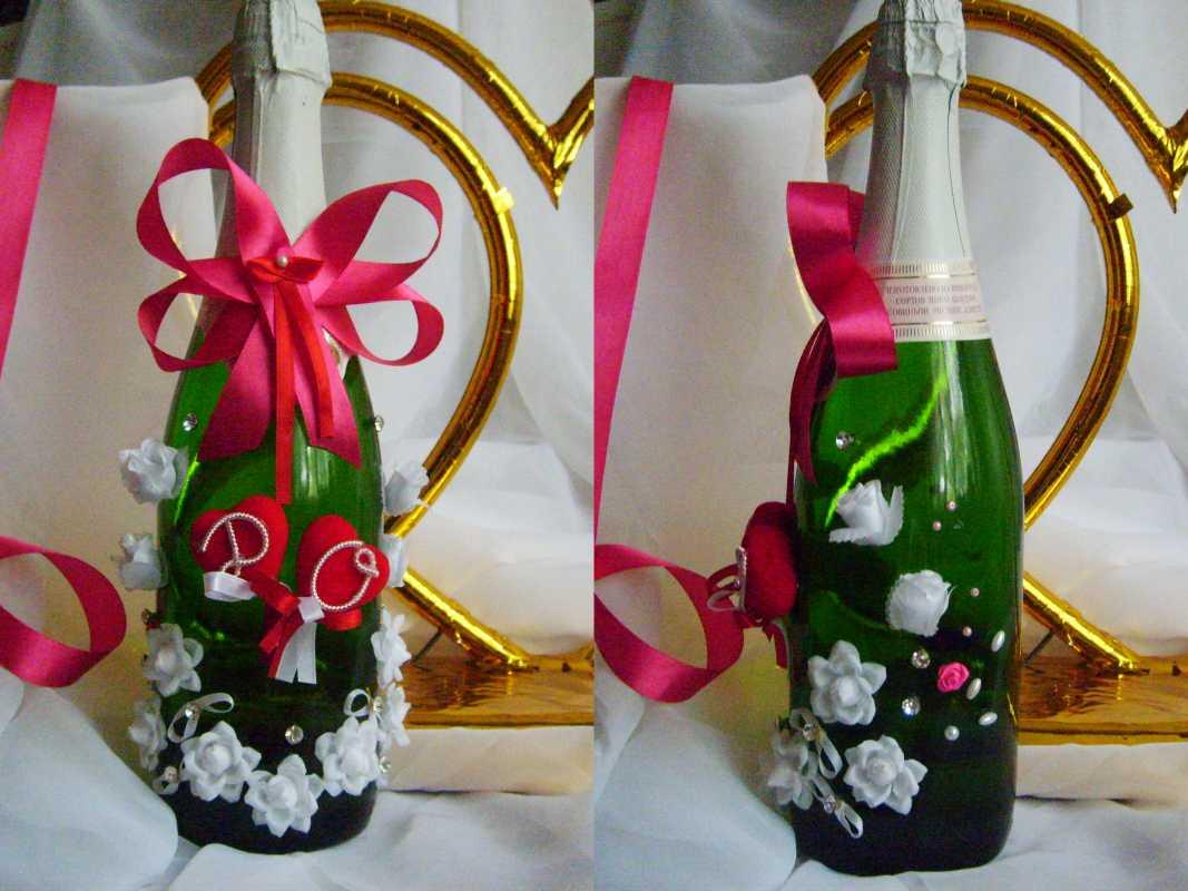 oformlenie-svadebnyh-butylok-3 Профессиональное оформление свадебных бутылок фото подборка самых удачных вариантов