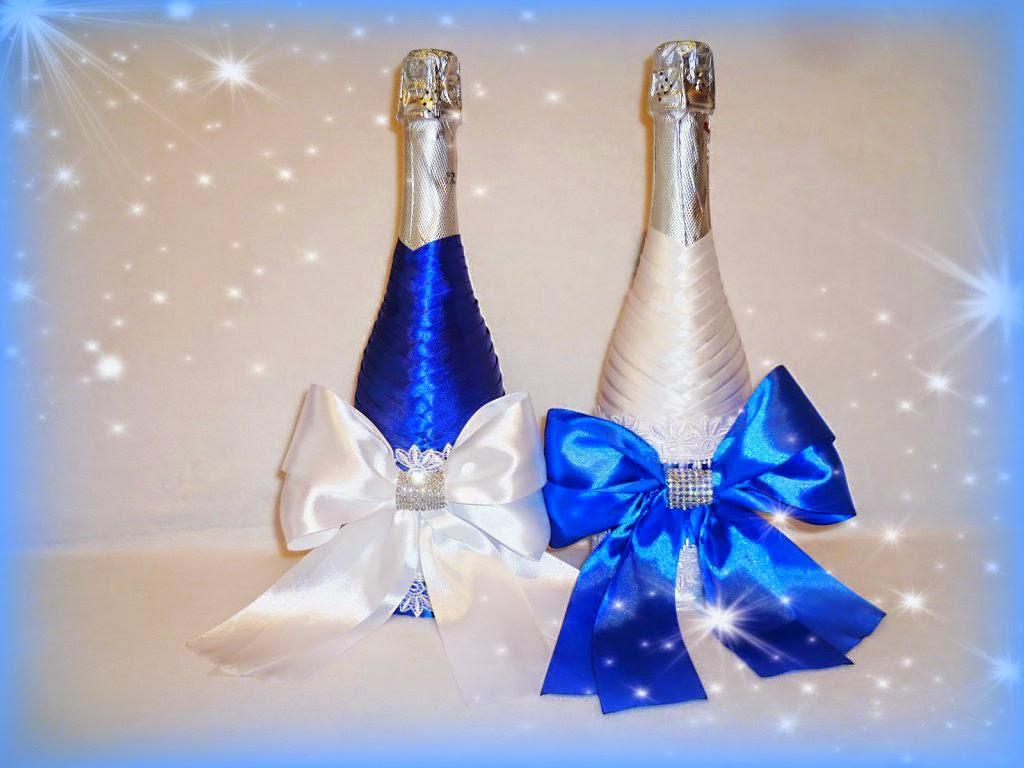 oformlenie-svadebnyh-butylok-6 Профессиональное оформление свадебных бутылок фото подборка самых удачных вариантов