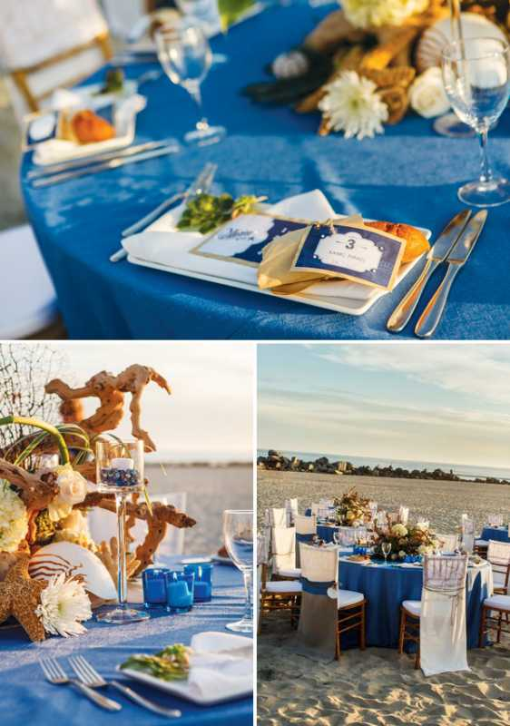 plyazhnaya-svadba-na-beregu-okeana-4 Красивая свадьба на берегу океана в пляжной тематике, идеи для организации торжества