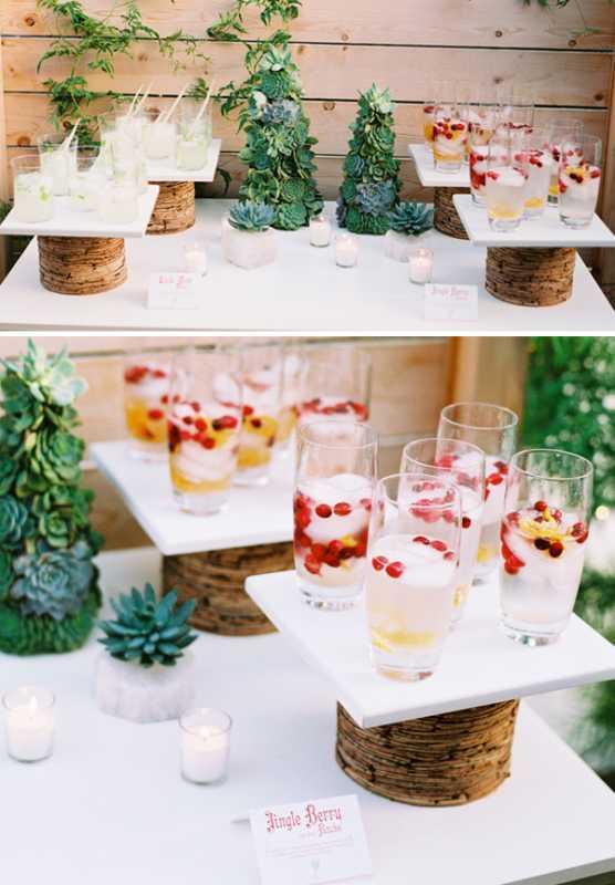 rozhdestvennaya-servirovka-stola-na-svadbe-2 Рождественская сервировка свадебного стола для зимней церемонии бракосочетания