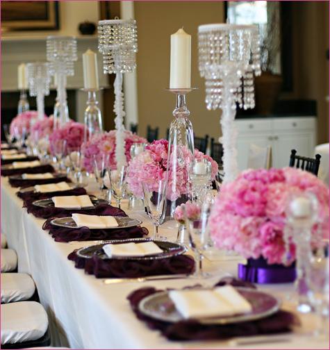 servirovka-stola-v-stile-shanel-2 Сервировка свадебного стола в стиле Шанель - простой способ сделать торжество изысканным и стильным