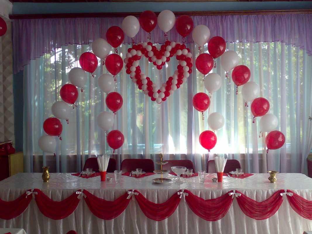 Украшения на свадьбу шарами