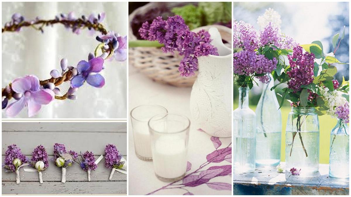 svadba-v-sirenevom-tsvete-3 Свадебное оформление в сиреневом цвете в сочетании с белым цветом для летней свадьбы