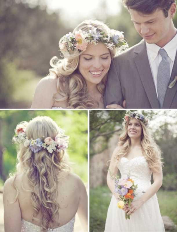venok-dlya-nevesty-na-svadbu-3 Венки на голову из цветов на свадьбу, нежный свадебный аксессуар для волос невесты
