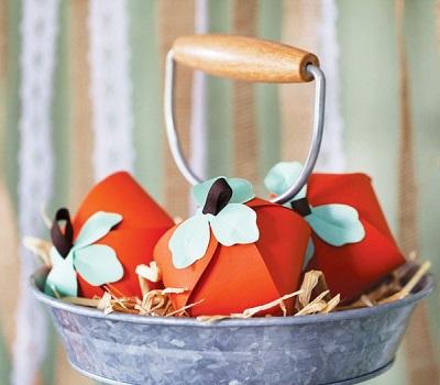 Скачайте бесплатно шаблон бонбоньерки в виде тыквы для свадьбы в стиле Хэллоуин
