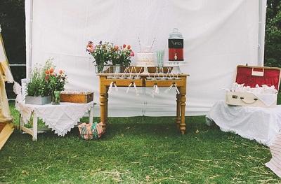 Рустиковый девичник в палатках, идея для проводения  на природе предсвадебной вечеринке невесты