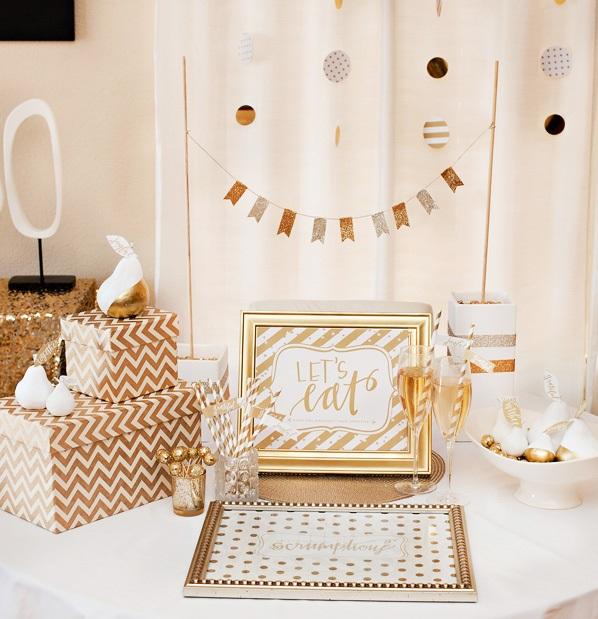 1-zolotoj-kendi-bar-na-svadbe Богатство и роскошь золотого Кенди Бара на свадьбе, чем удивить гостей