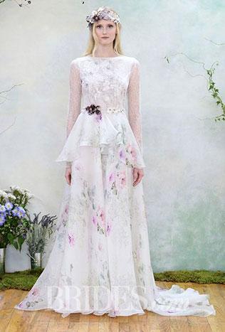 211svadebnie-platya-s-cvetochnym-printom Свадебные платья с цветочным принтом, очаровательный и модный тренд в свадебной моде