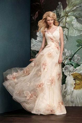 313svadebnie-platya-s-cvetochnym-printom Свадебные платья с цветочным принтом, очаровательный и модный тренд в свадебной моде