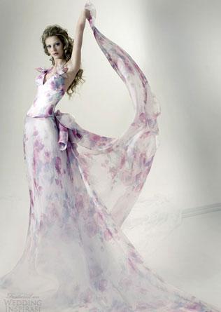 93 Свадебные платья с цветочным принтом, очаровательный и модный тренд в свадебной моде