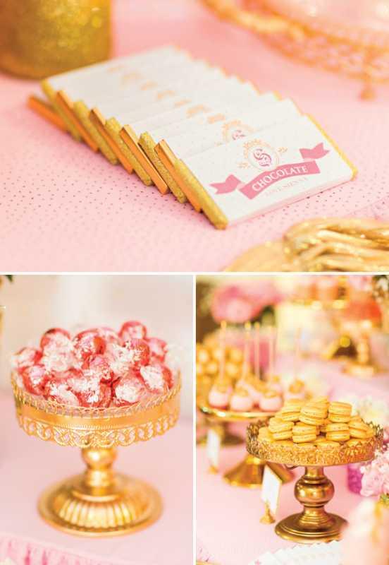 kendi-bar-dlya-printsessy-na-devichnik-8 Розовой Кенди Бар для девичника, специально для тех невест, которые считают себя невестами