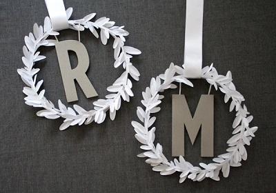 Мастер класс: монограммы для декора свадьбы