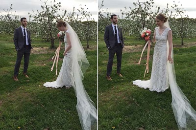 Декорируем сами свадебный букет невесты в стиле рустик при помощи лент