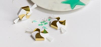 Бонбоньерки на свадьбу в виде конфеток, бесплатный шаблон макета для скачивания