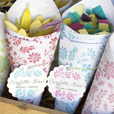 4 Скрап фона для создания свадебных кулечков для конфетти